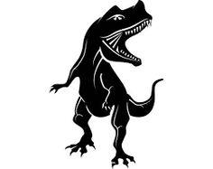 236x187 Cartoon Tyrannosaurus Rex Fossil Vector Art Illustration