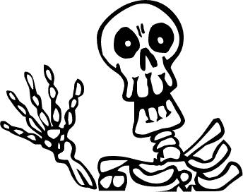 344x272 Dinosaur Skeleton Clip Art Black And White Clipart Panda