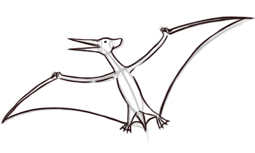 500x300 Drawn Dinosaur Pterodactyl