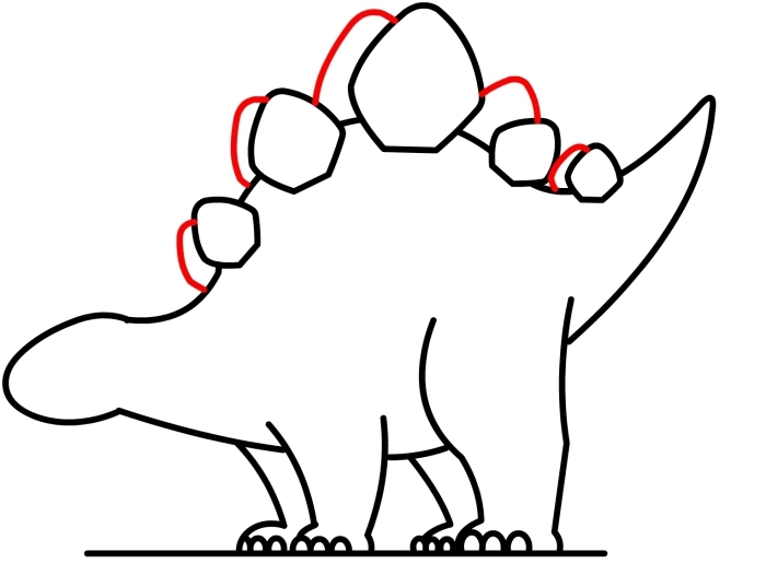 700x537 Stegosaurus Clipart Dinosaur Outline