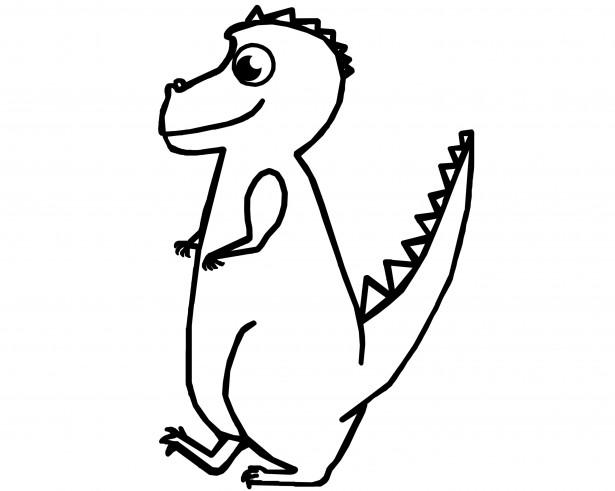 615x491 T Rex Dinosaur Outline Free Stock Photo