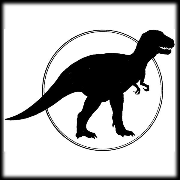600x600 Tyrannosaurus Rex Clipart Dinosaur Outline
