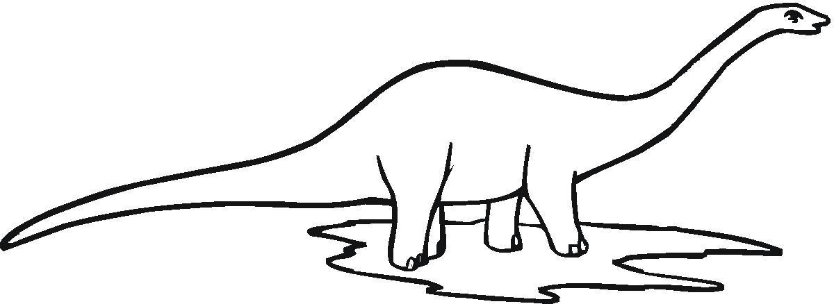1200x438 Brachiosaurus Clipart Dinosaur Outline