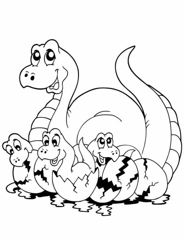 612x792 Dinosaur Coloring Pages Online