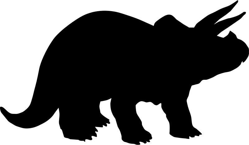 800x467 Black Clipart Dinosaur