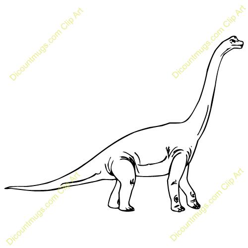 500x500 Brachiosaurus Clipart