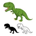150x150 Dinosaur Skeleton Royalty Free Vector Clip Art Image