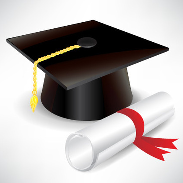 368x368 Free graduation cap and diploma clip art free vector download