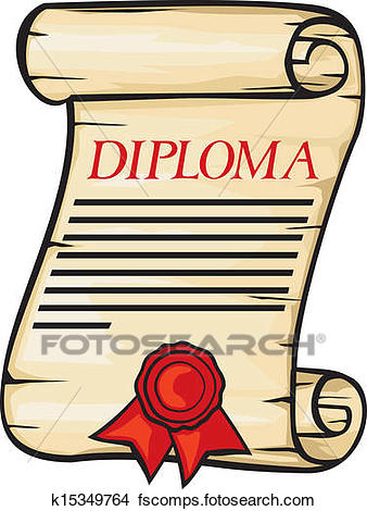 338x470 Clipart of Diploma k15349764