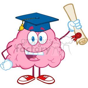 300x300 Royalty Free 5845 Royalty Free Clip Art Happy Brain Character