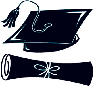 327x300 Graduation Cap Silhouette Clip Art