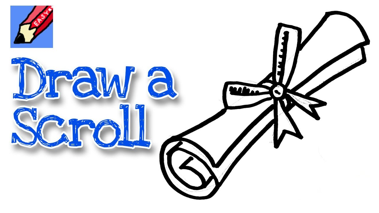 1280x720 How To Draw A Graduation Scroll Real Easy