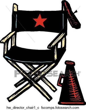 368x470 Clipart Of Director Chair 1 Hw Director Chair1 C