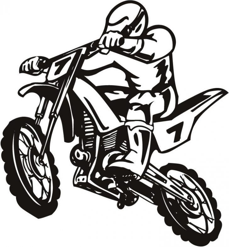 728x786 Dirt Bike Clipart