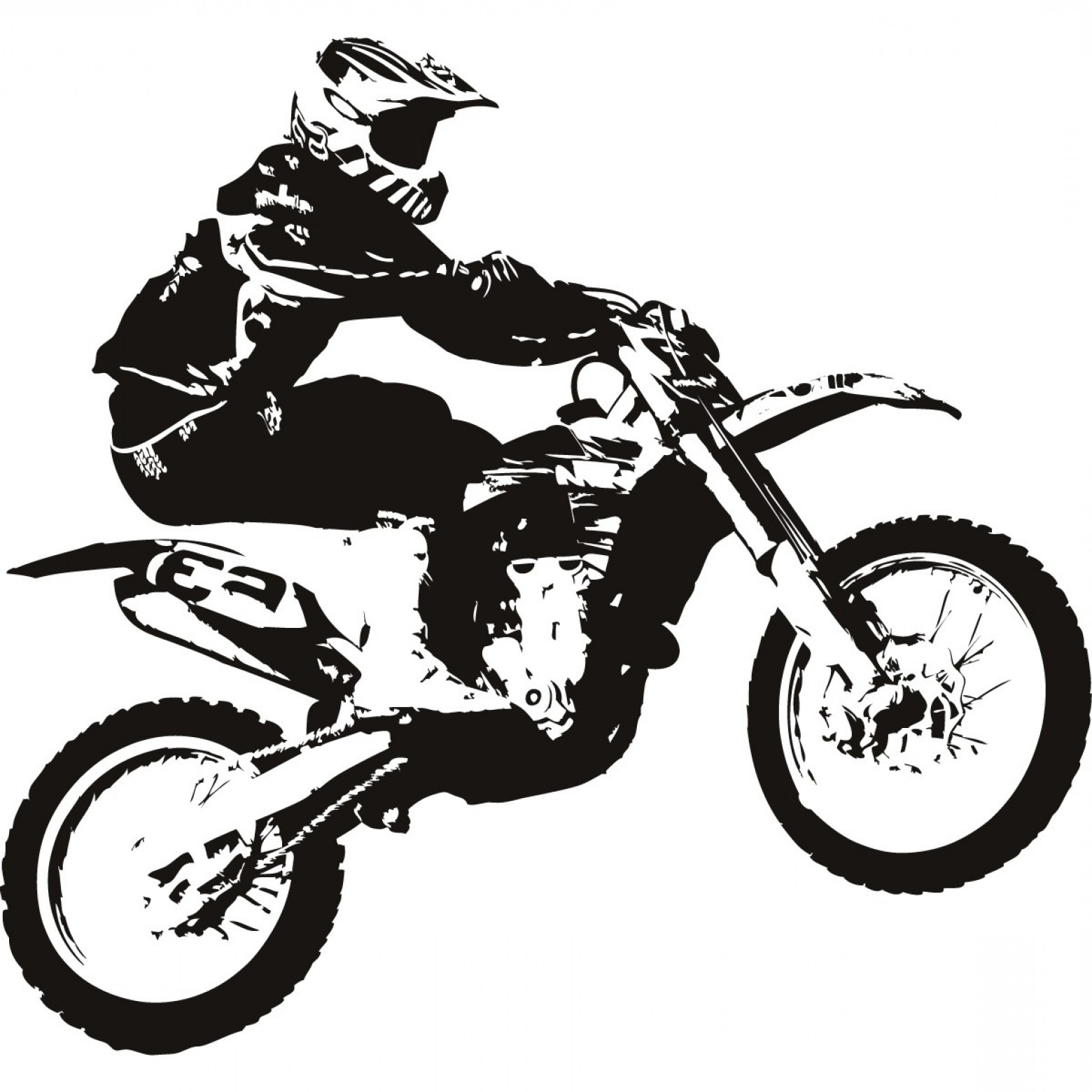 Dirt Bike Clipart Black And White Dirt Bike Clipa...