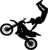 161x170 Dirt Bike Black And White Clipart