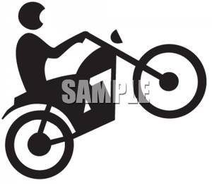 300x261 Dirt Bike Clipart Black And White Clipart Panda