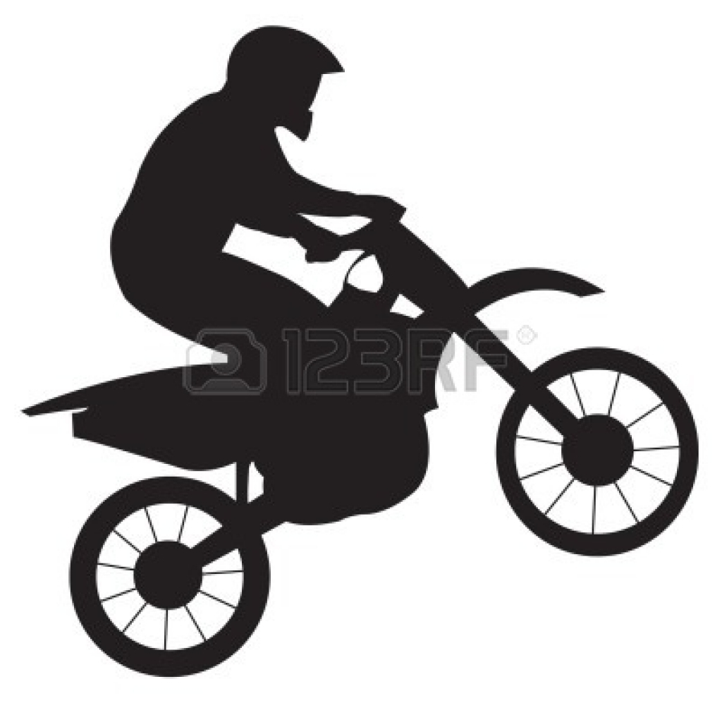 1024x1024 Dirt Bike Clipart Black And White Clipart Panda Free Clipartbest