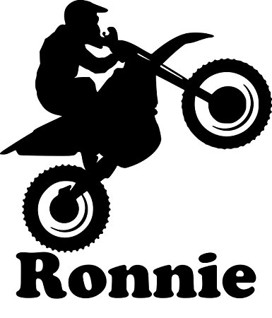 385x450 Dirt Bike Motorcycle Vinyl Decal Sticker With Custom