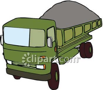 350x306 Royalty Free Clip Art Image A Dump Truck With A Full Load Of Dirt