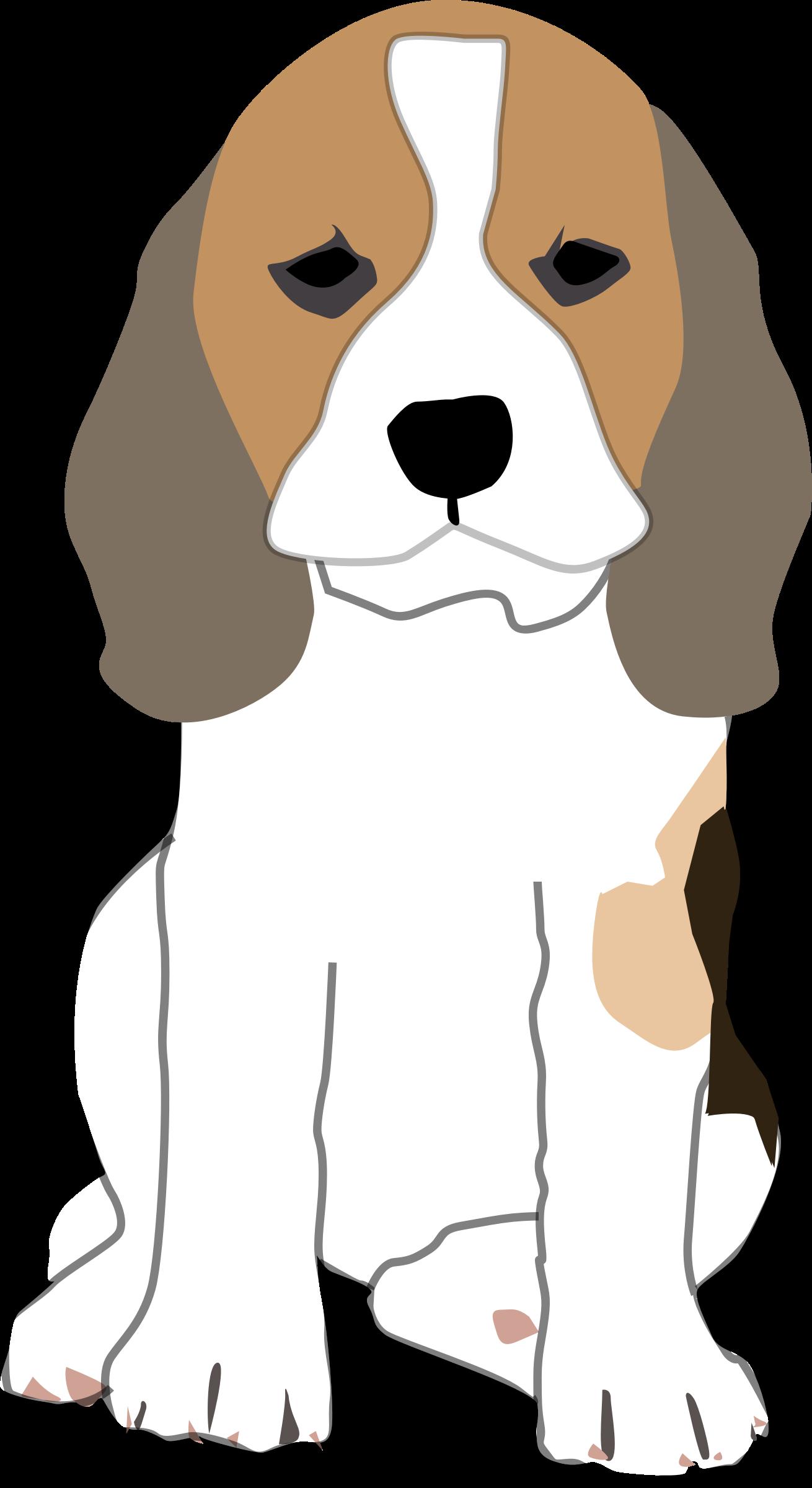 1310x2400 Beagle Clipart Dog Sitting