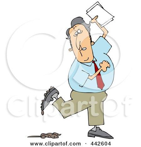 450x470 Royalty Free (Rf) Clip Art Illustration Of A Businessman Stepping