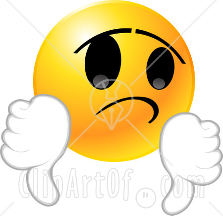 450x436 Disappointed Emoticons Clipart