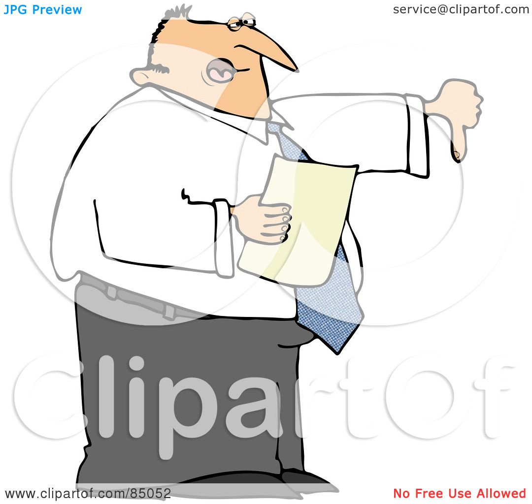 1080x1024 Royalty Free (Rf) Clipart Illustration Of A Disappointed Male Boss