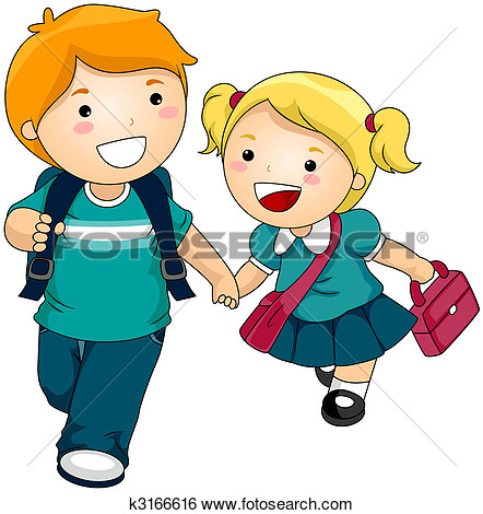 442x470 Guing To School Clipart