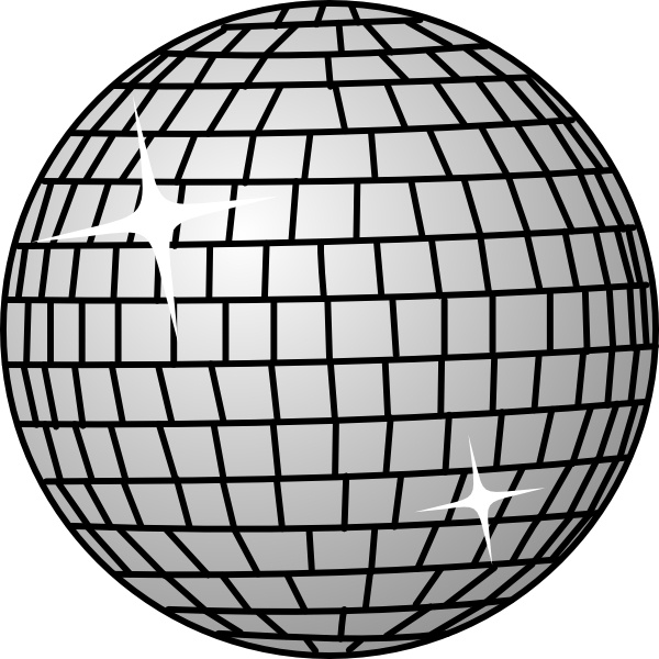 600x600 Disco Ball Clip Art Free Vector In Open Office Drawing Svg ( Svg