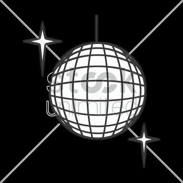 600x600 Disco Ball Vector Image