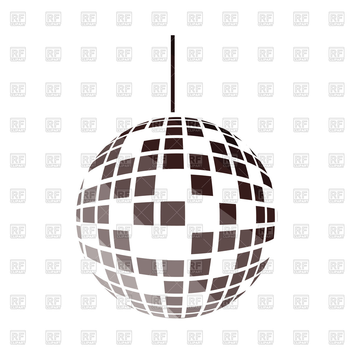 1200x1200 Party Disco Sphere Icon Royalty Free Vector Clip Art Image