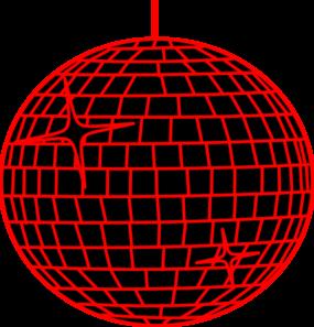 285x297 Red Disco Ball Clip Art
