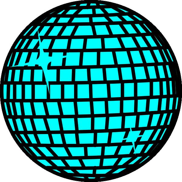 600x600 Snow Disco Ball Blau Clip Art