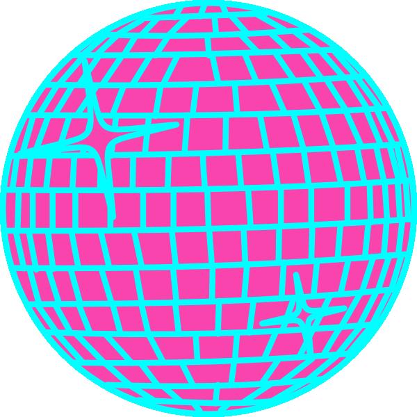 600x600 Snow Disco Ball Schmal Rand Blau Clip Art