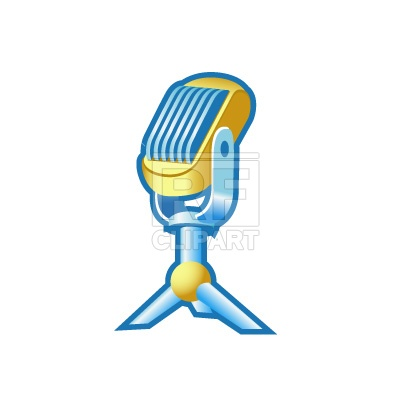 400x400 Disco Ball With Microphone Royalty Free Vector Clip Art Image