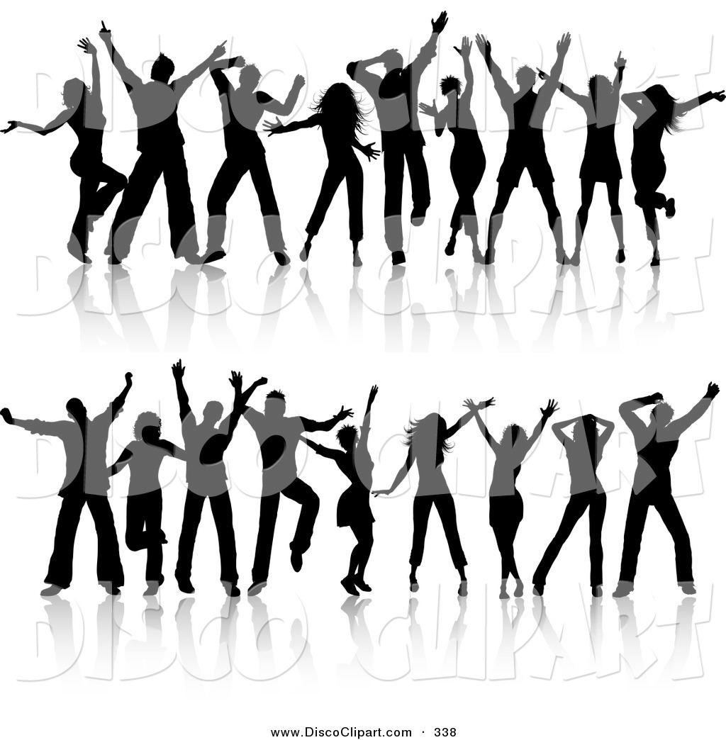 1024x1044 Music Clip Art Of A Digital Set Of Two Rows Of Young Silhouetted