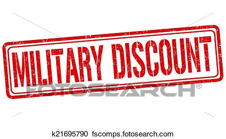450x278 Clipart Of Military Discount Stamp K21695790