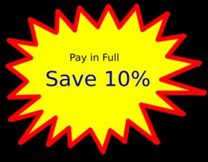 300x234 Discount Full Clip Art
