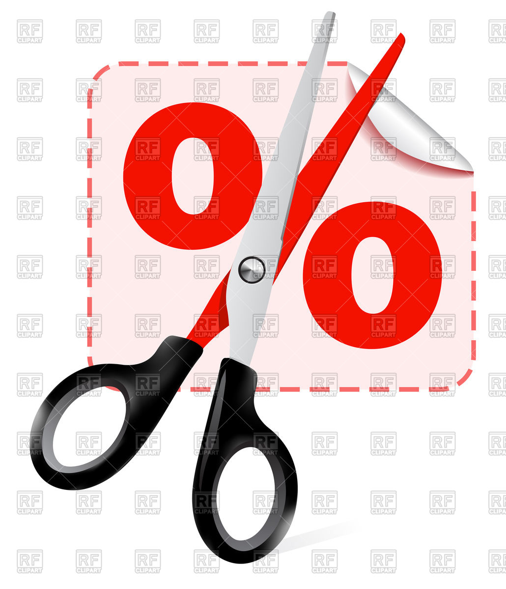 1030x1200 Scissors With Discount Label Royalty Free Vector Clip Art Image