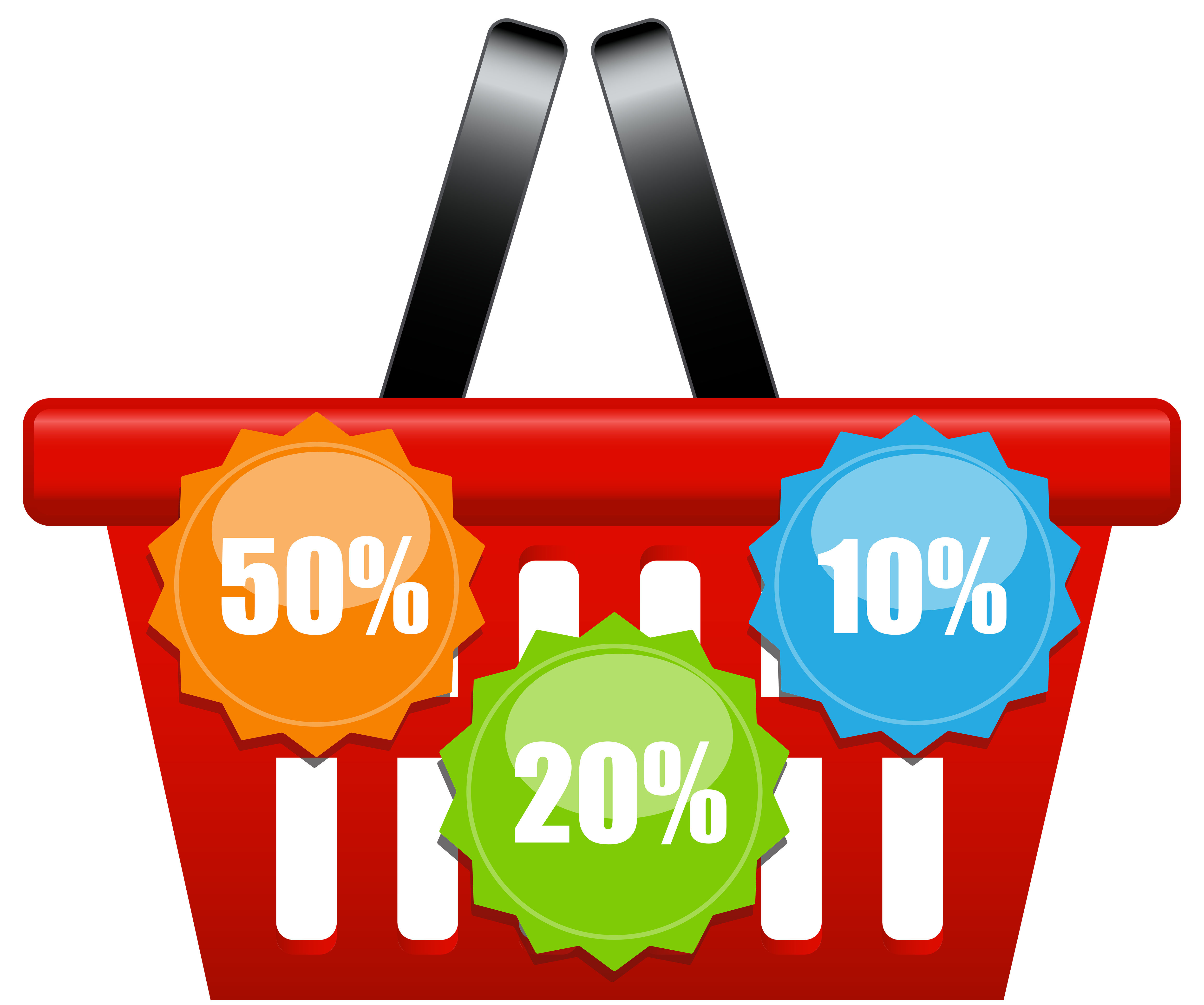 5000x4174 Shopping Basket With Discount Icons Png Clip Art Imageu200b Gallery