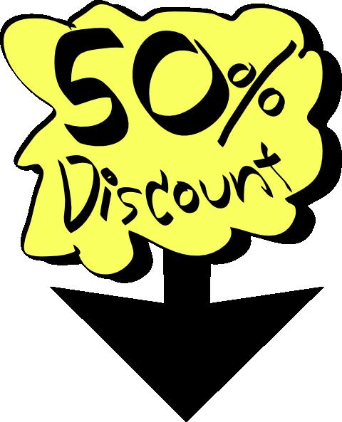 480x593 50% Discount Clip Art