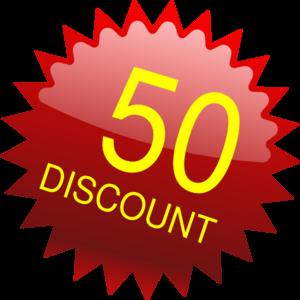 300x300 50 Pounds Discount Clip Art