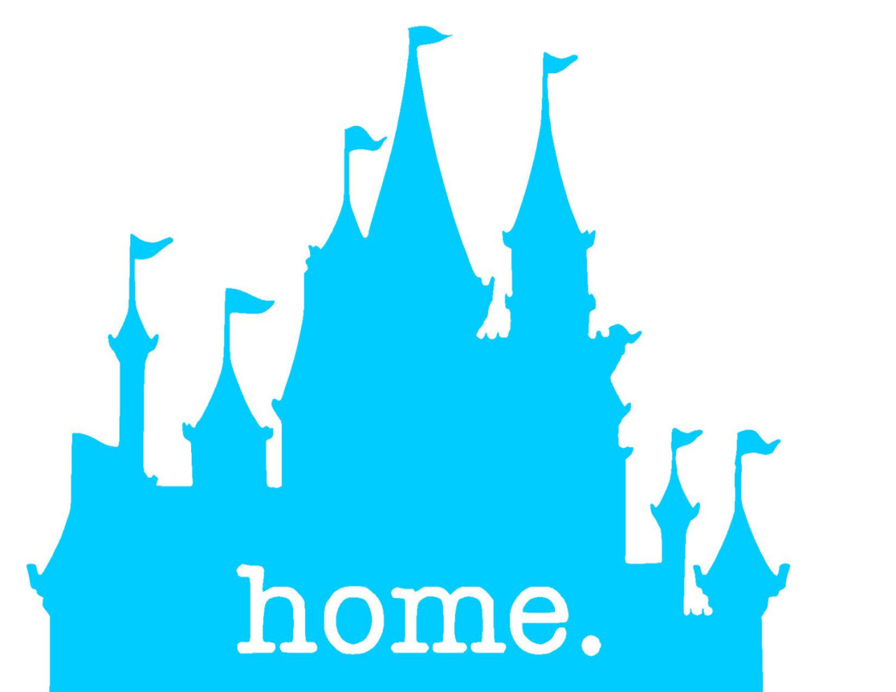 1280x989 Disneyland Clipart Blue Castle