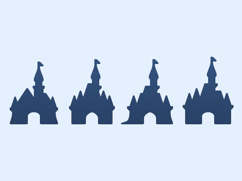 800x600 Disney Castles By Louie Mantia