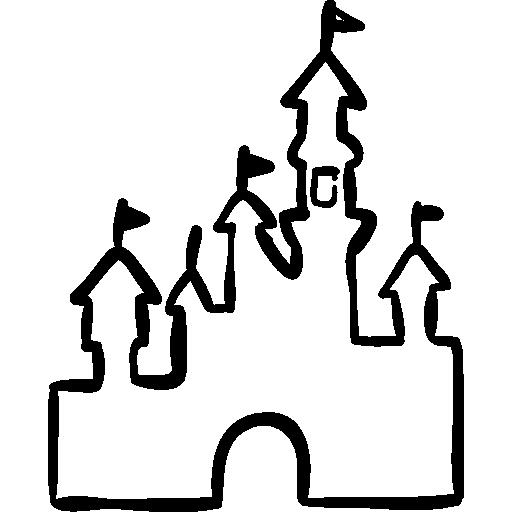 Disney Castle Outline   Free download on ClipArtMag