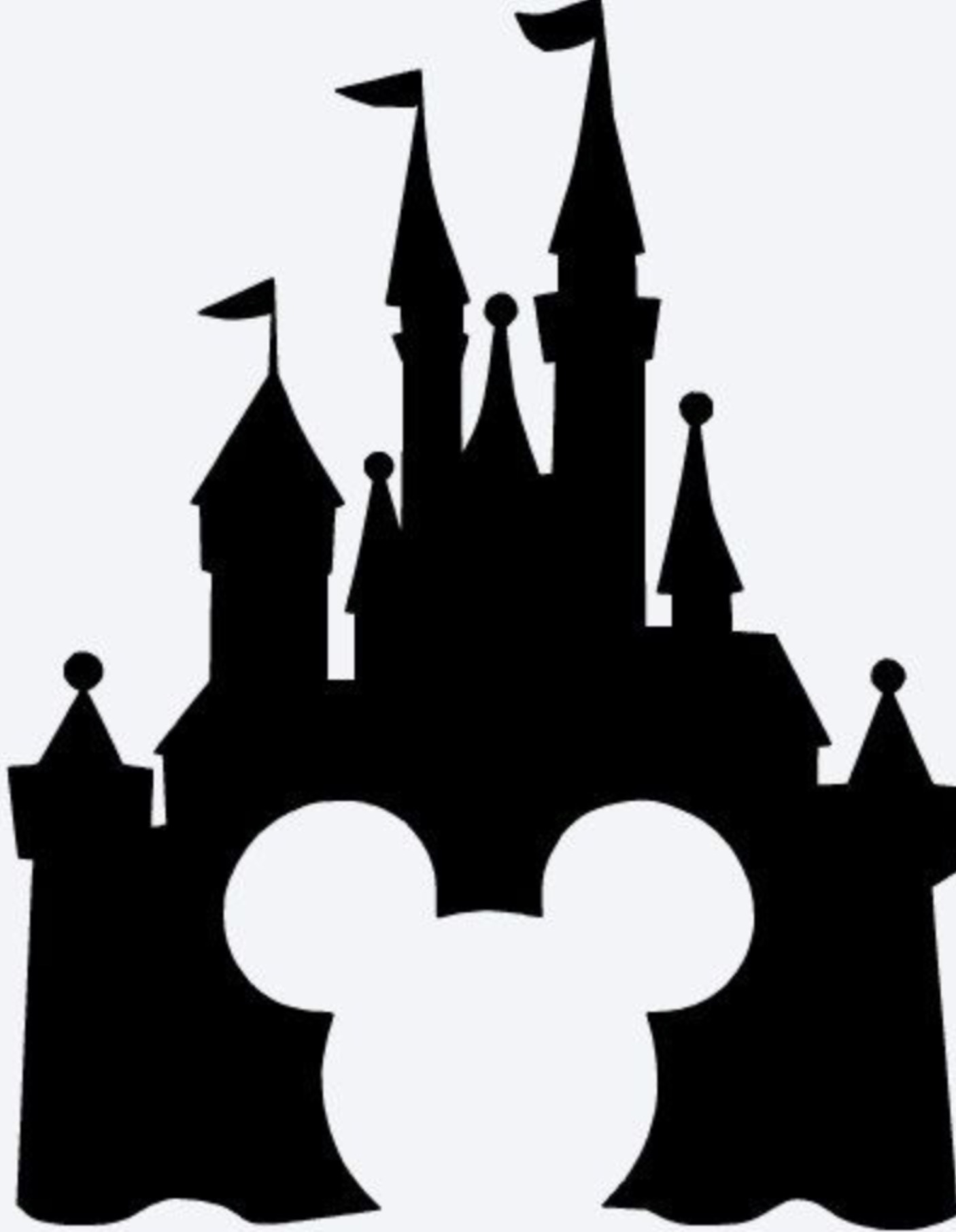 picture regarding Free Printable Disney Silhouettes referred to as Disney Castle Silhouette Free of charge down load least complicated Disney Castle