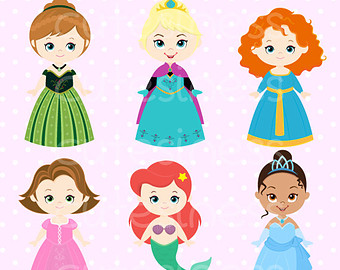 340x270 Cute Princess Digital Clipart Princess Clip Art Cute By Cutesiness