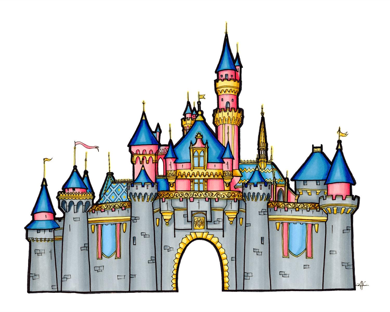 Castle disneyland. Drawing free download best