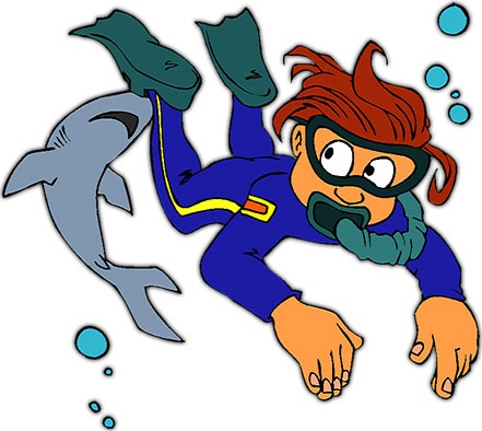 441x394 Diving Clipart